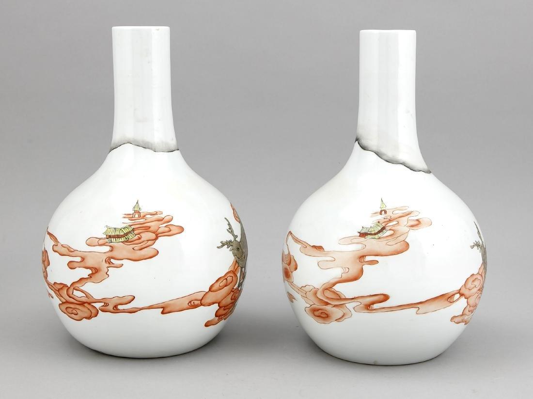 paar Tianqiuping-Vasen, China, Republik-Zeit, Dekor in - 2