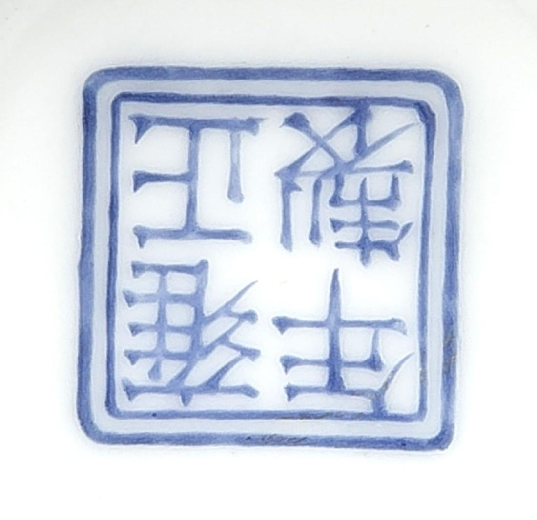 Paar Flaschenkürbis-Vasen, China, 20. Jh., polychrome - 3