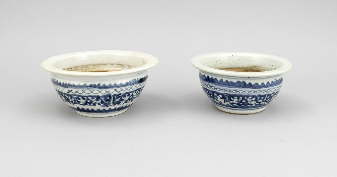 2 Schalen/kleine Übertöpfe, China, 18./19. Jh., Dekor