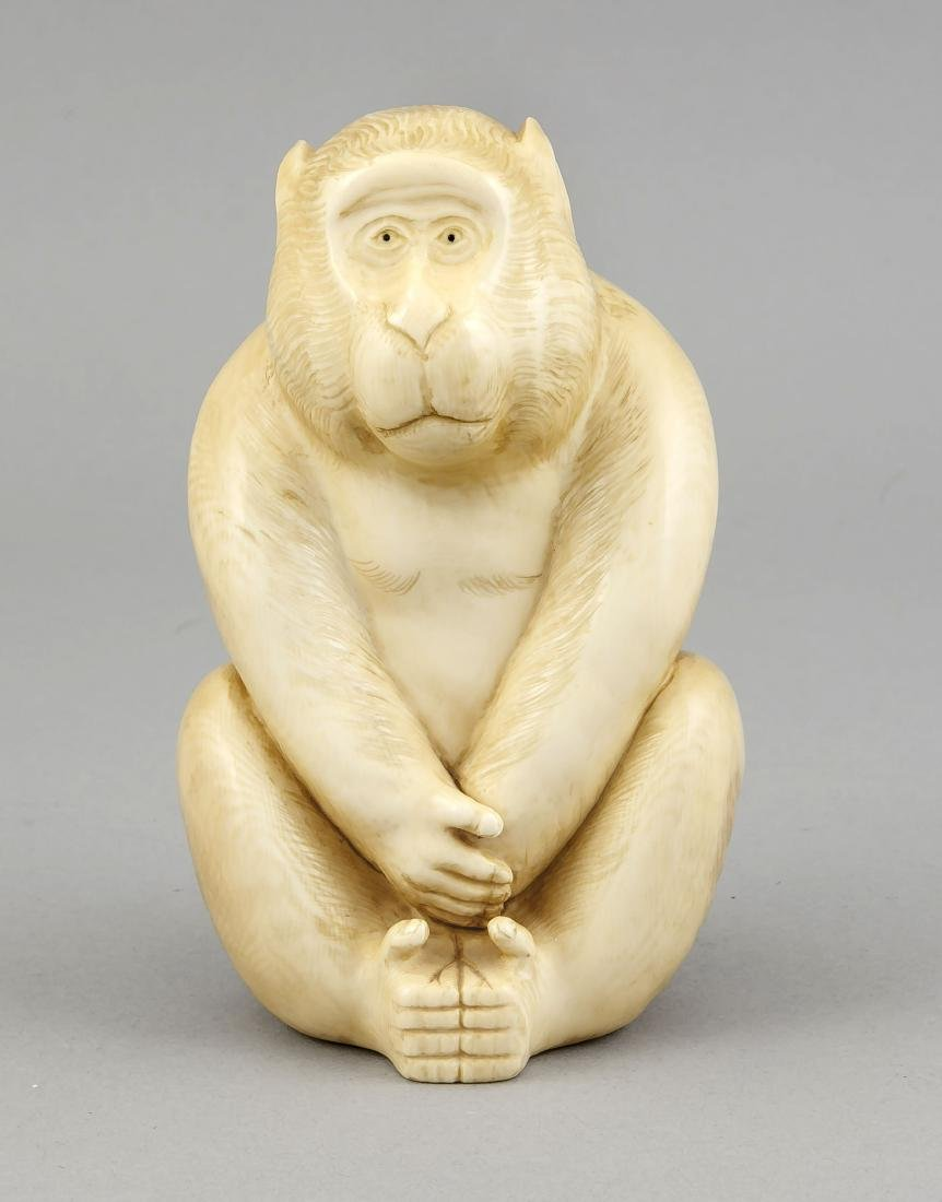 hockender Affe, Japan, 19. Jh., große