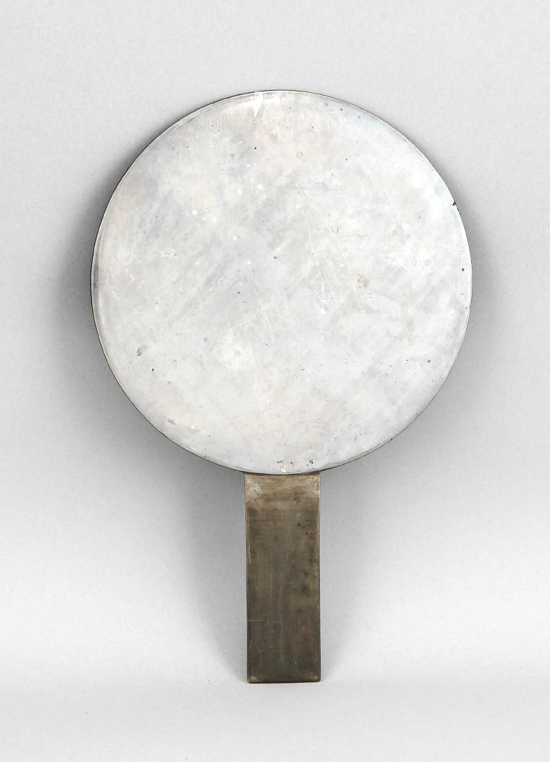 Bronzespiegel (Kagami), Japan, 19. Jh., runder Spiegel