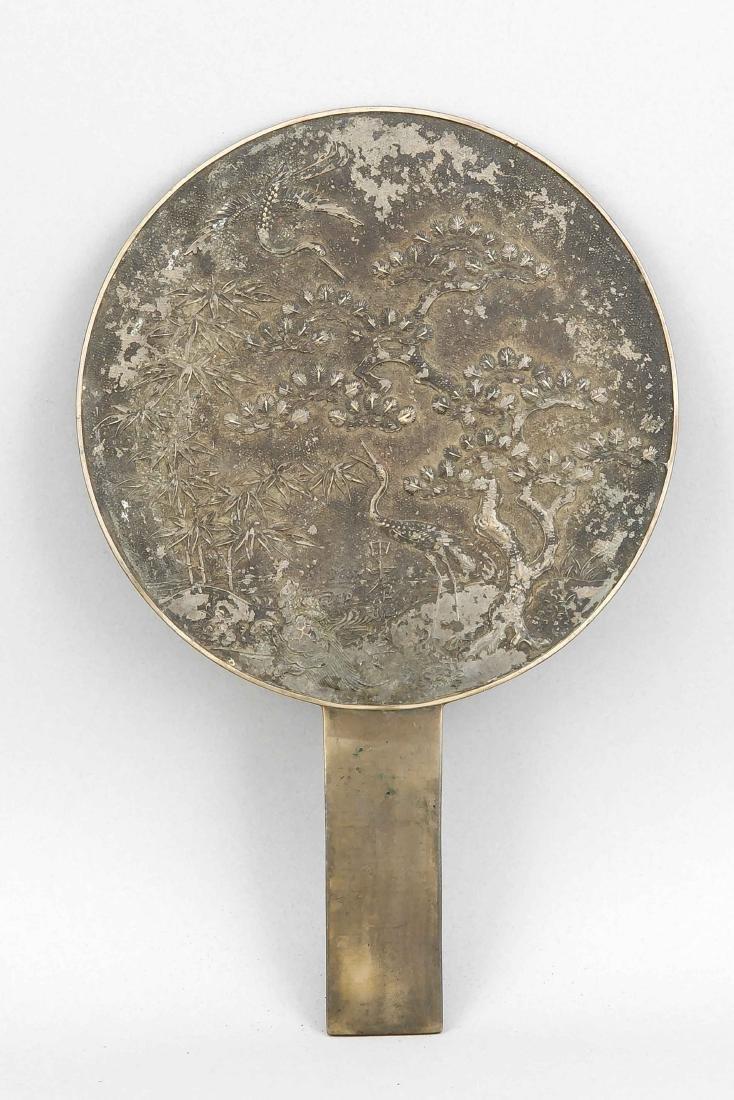 Bronzespiegel (Kagami), Japan, 19. Jh., runder Spiegel - 2