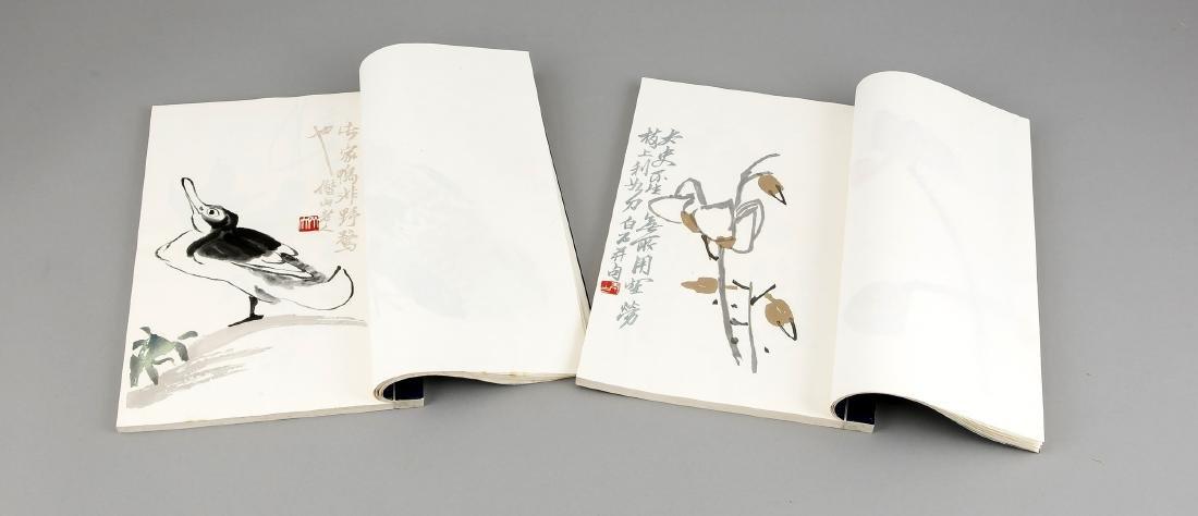 Leporello-Album mit 2 Bänden Holzschnitt-Drucken Qi - 5