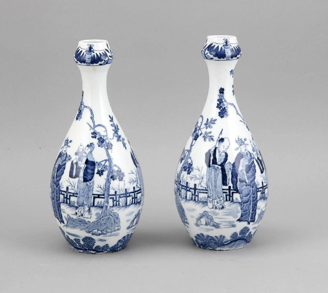 paar Vasen (Suantouping), Holland/Delft?, 20. Jh.,