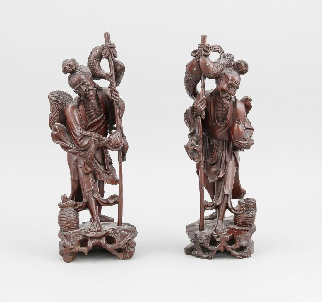 paar Figuren, China, Anfang 20. Jh., durchbrochen