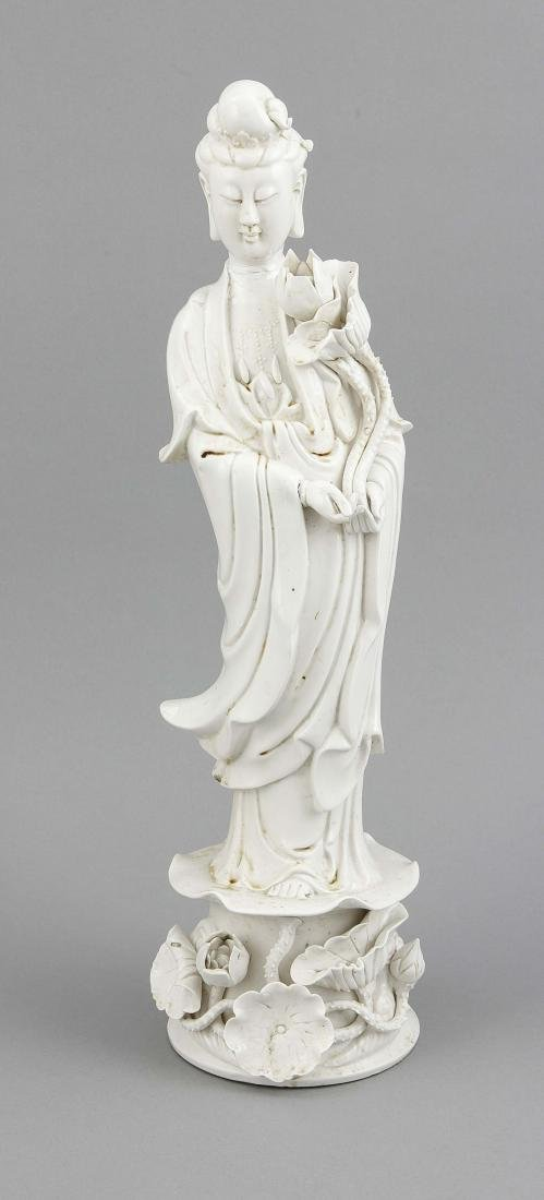 Blanc de Chine-Figur (Guanyin), China, 19./20. Jh.,
