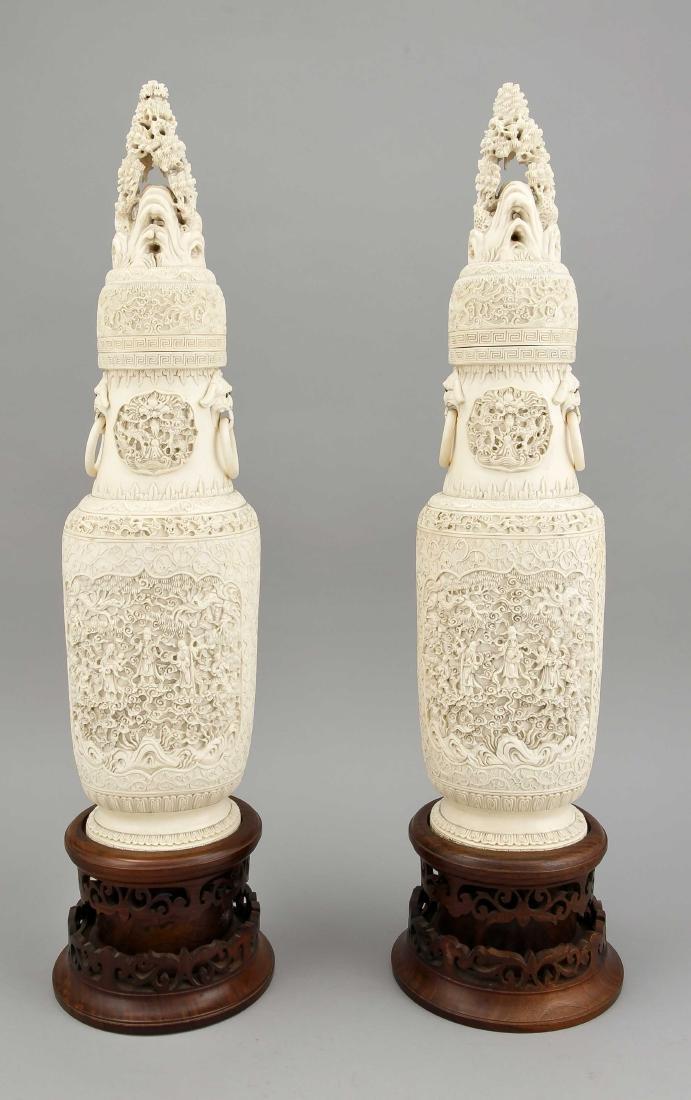 paar Prunkvasen, China, um 1900, filigrane - 2