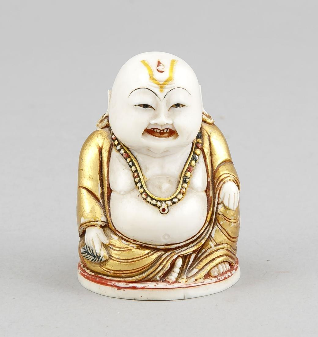 kleiner Elfenbein-Buddha, China, 20. Jh.,