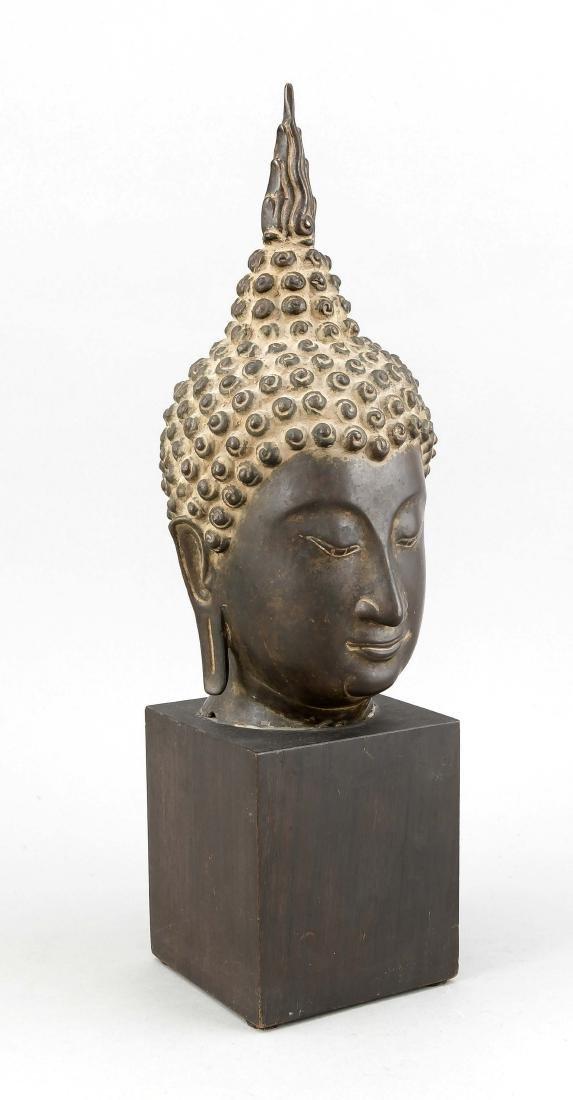Buddhakopf im Sukothai-Stil, Thailand 19. Jh.,