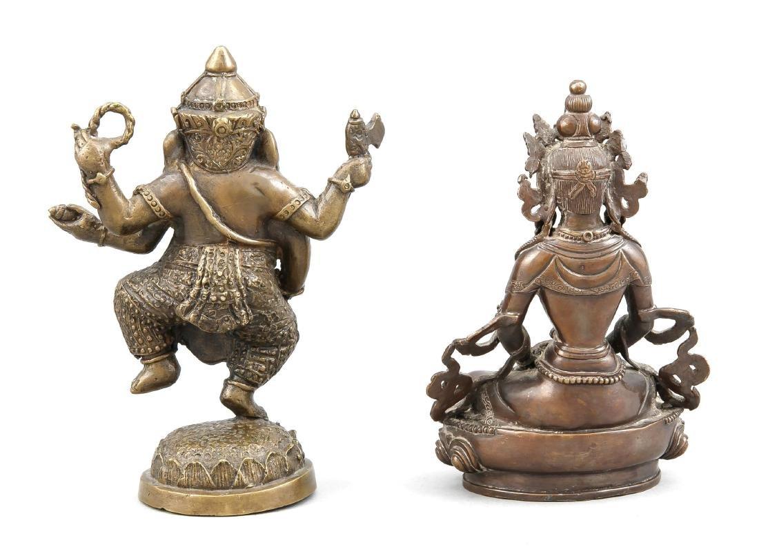 2 figures, China/Tibet, 19th/20th c., bronze, 1 x - 2