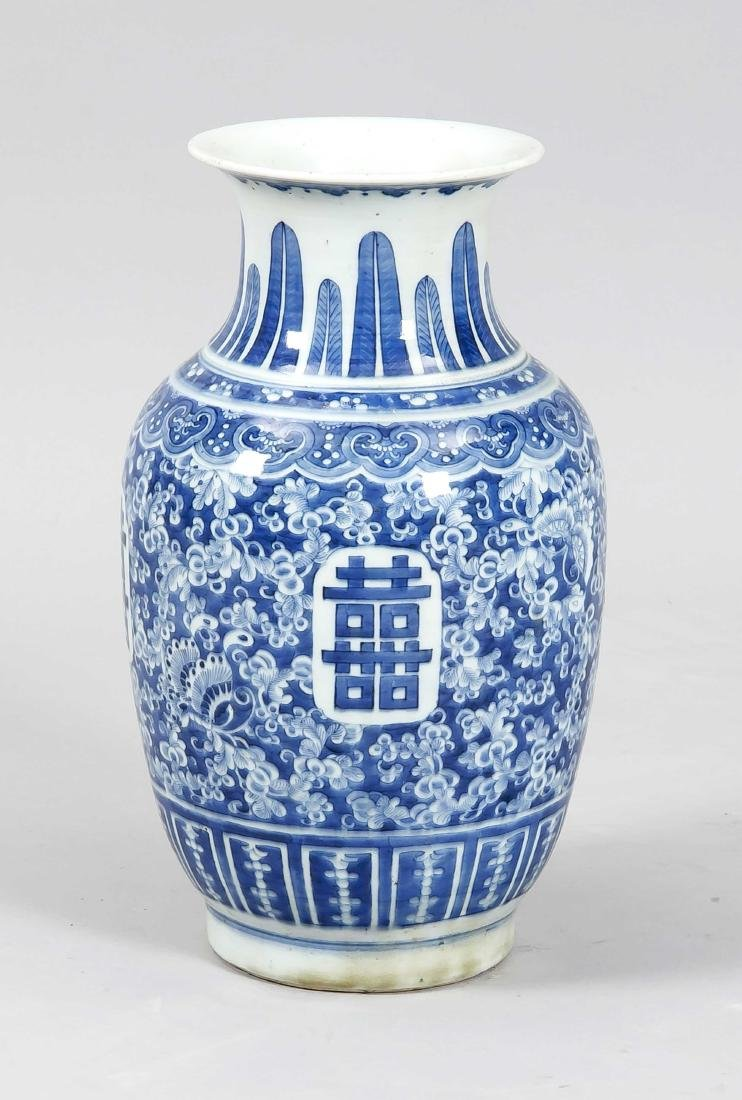 Baluster vase, China, probably 19th c., on the corpus