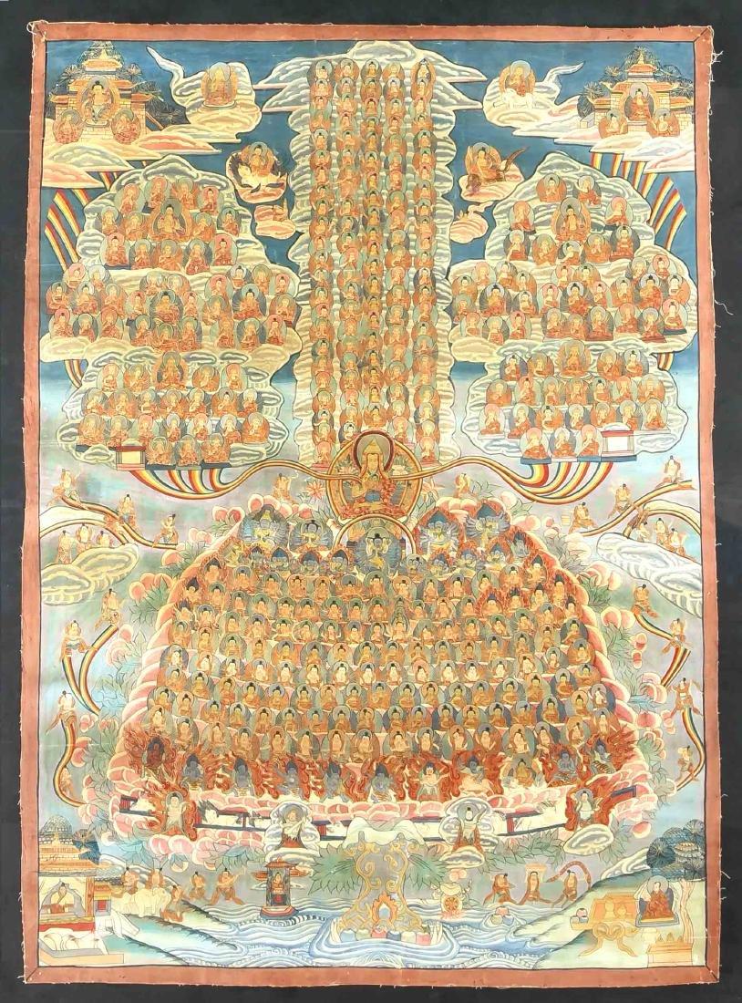Thangka, Tibet, 1st half of the 20th century,