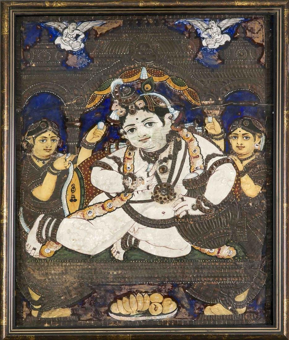 A Tanjore painting, South of India, early 20th c., Jai