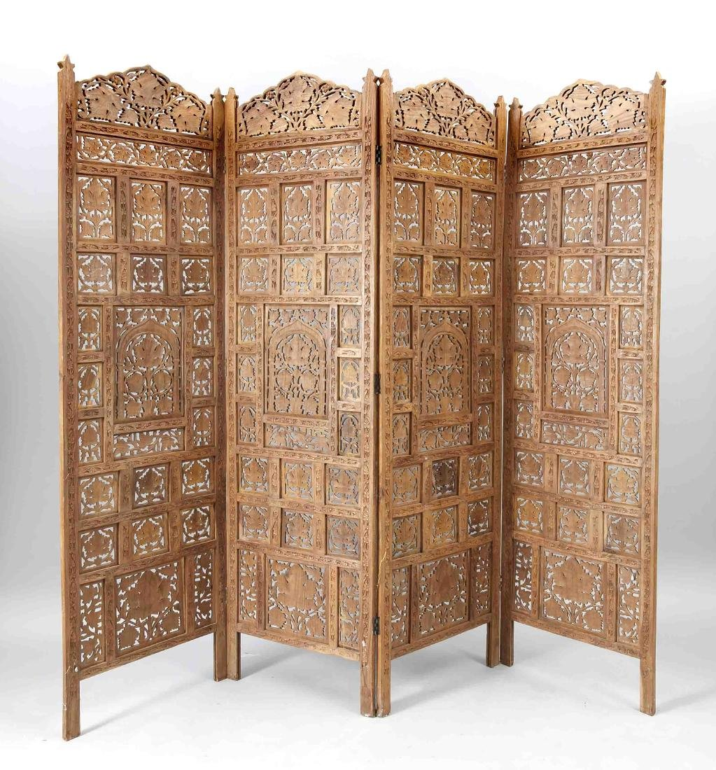 Folding screen, Asia (Thailand?), 2nd half of 20th c.,