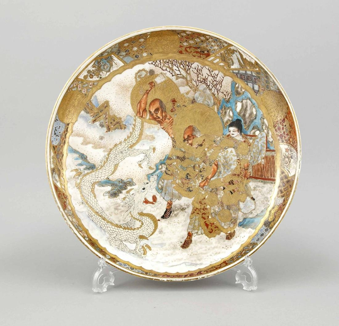 Large Satsuma plate, Japan, 19th century, ample