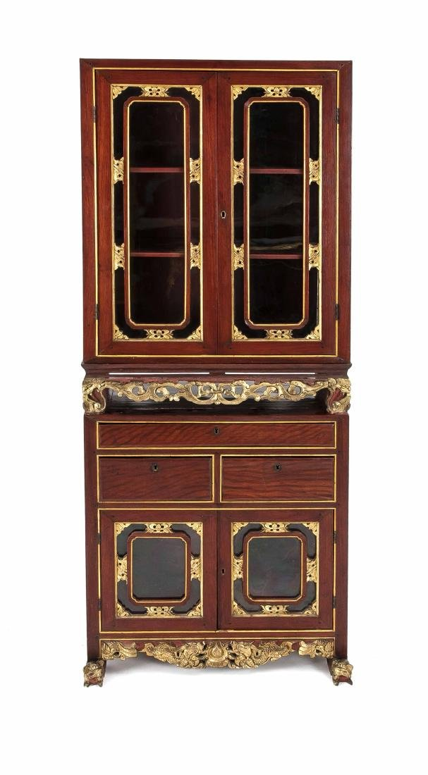 Cabinet on stand, mahogany, China, 20th century, four