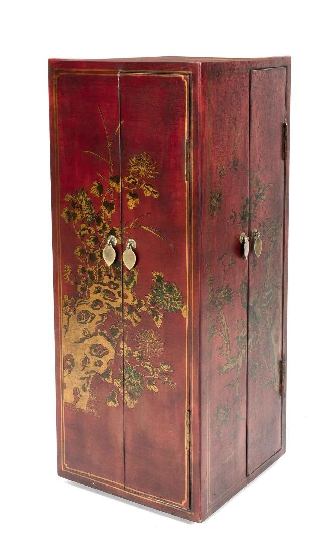 Varnished wardrobe, China, 20th century, carousel