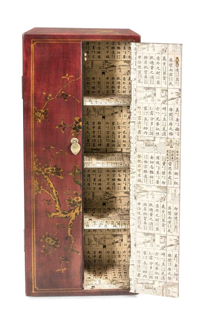Varnished wardrobe, China, 20th century, carousel - 2