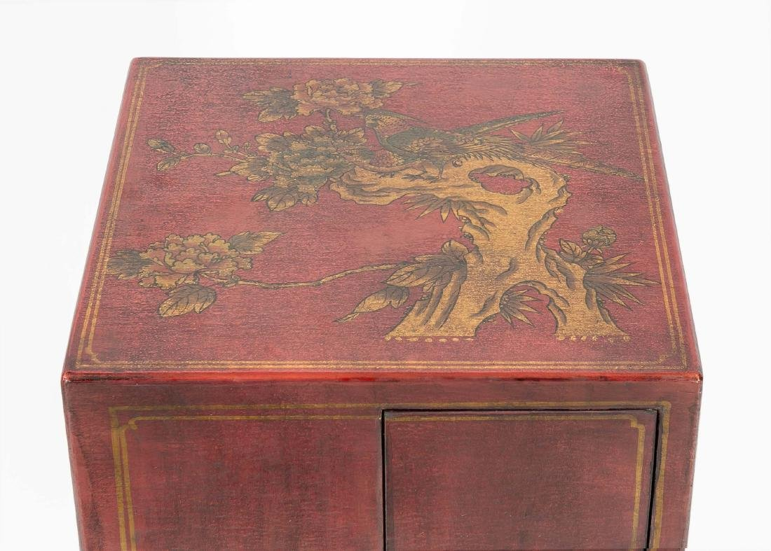 Varnished wardrobe, China, 20th century, carousel - 3