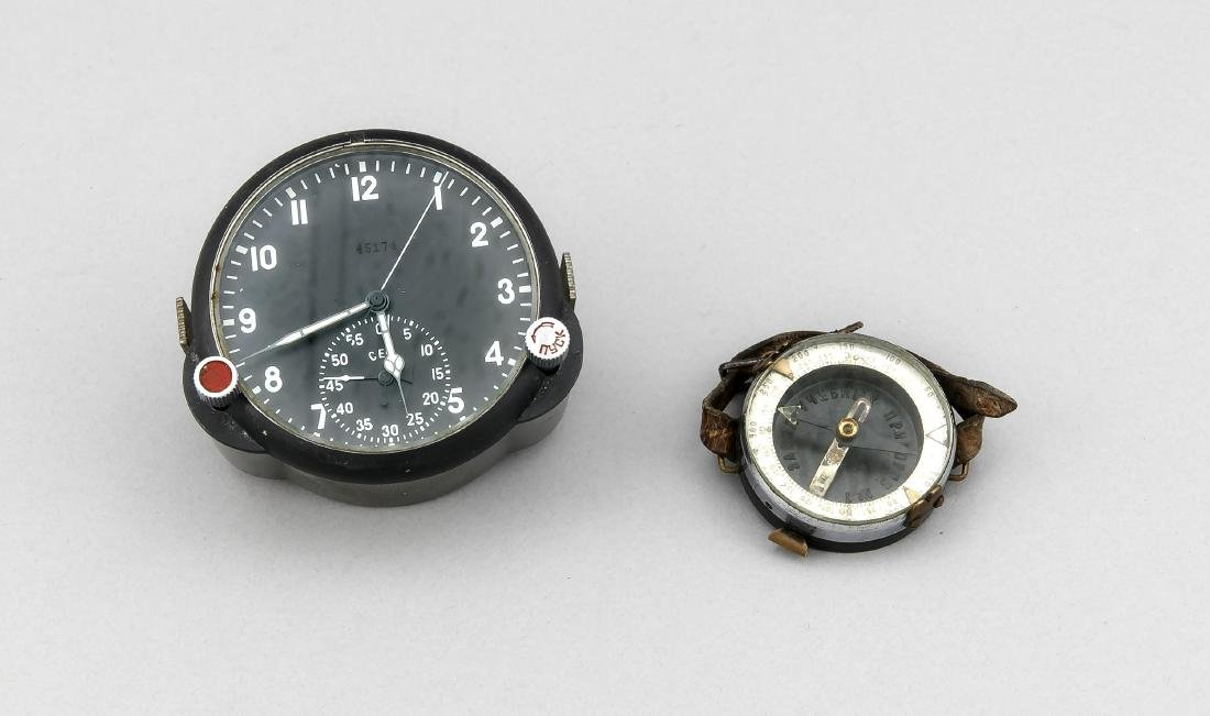 Soviet clock and wrist compass, 1st half of the 20th
