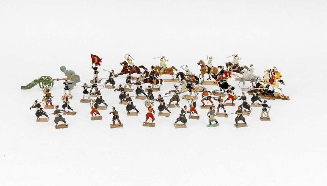 Konvolut Zinnsoldaten, 1. H. 20. Jh., ca. 117 Stück,