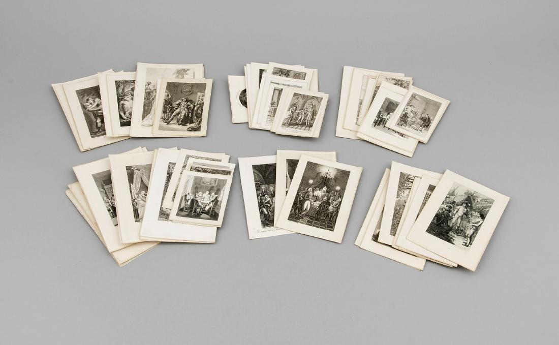 Große Sammlung von mehr als 400 Stichen des 18. Jh.,
