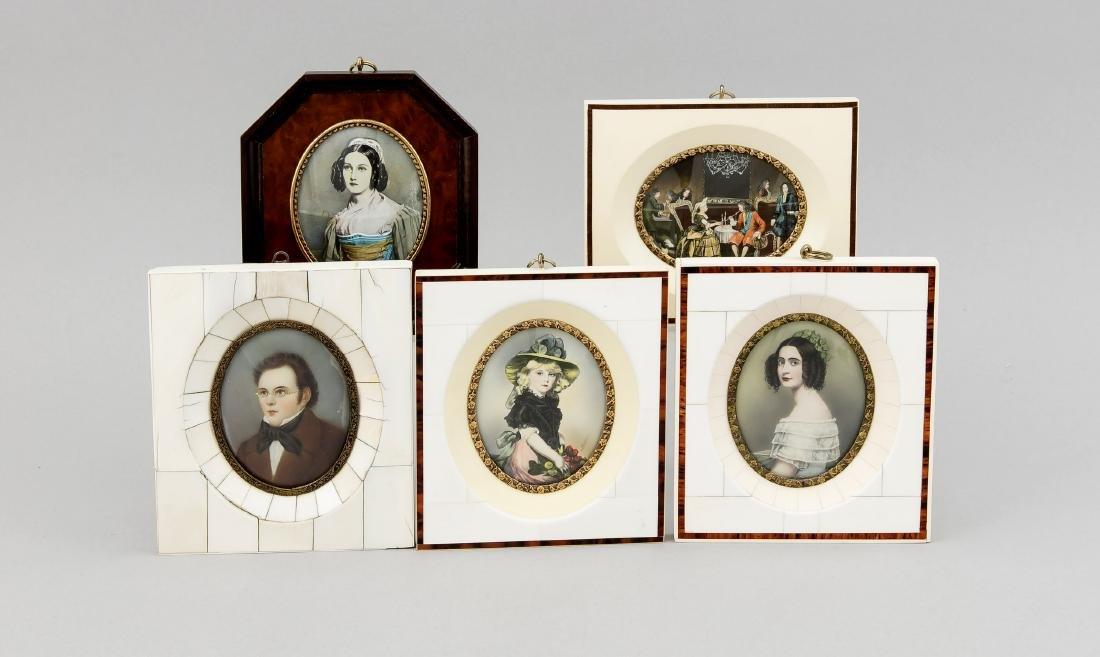 5 Miniaturen, z.T. bez. Haffke, Deutschland, 20. Jh., 1