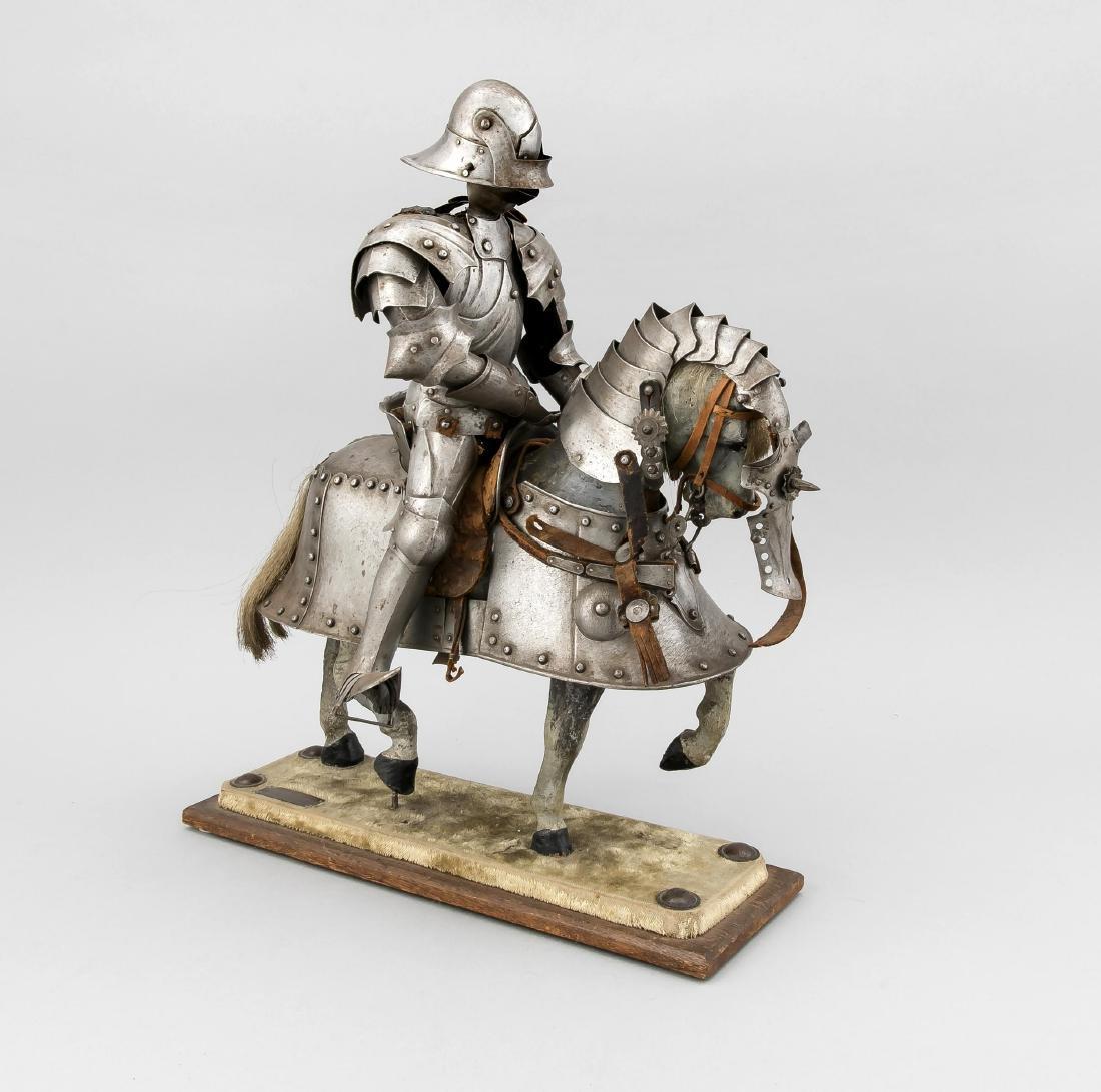 Modell eines Ritters, Deutschland, um 1900, auf kleiner