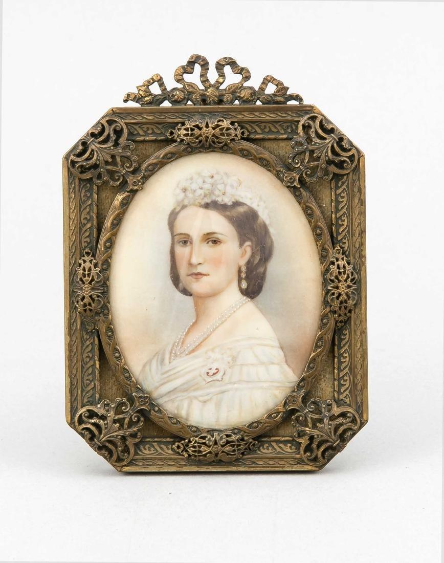Miniatur einer Dame, 19. Jh., im rechteckigen