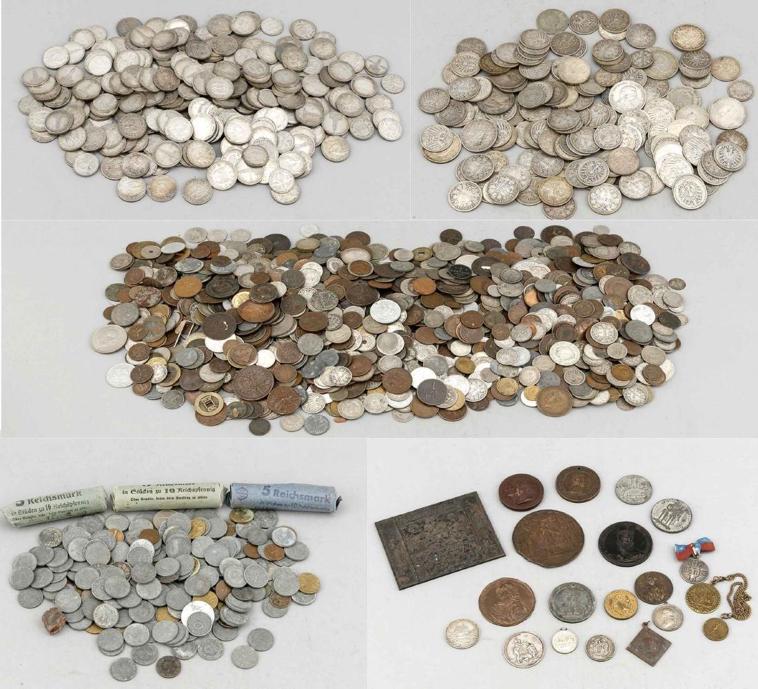 Großes Konvolut Münzen und Medaillen, insgesamt ca. 9
