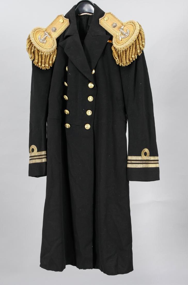 Englische Marineuniform, zweiteilig, schwarzer Stoff