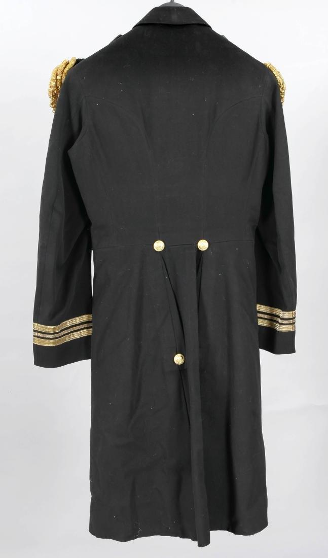 Englische Marineuniform, zweiteilig, schwarzer Stoff - 2