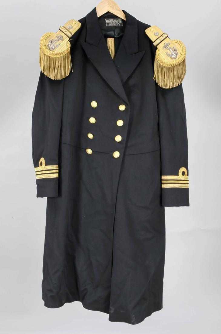 Dänische Marineuniform, 2-tlg., schwarzer Stoff mit