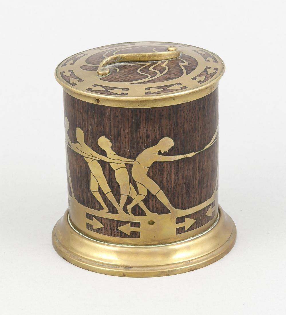 Jugendstil-Teedose um 1900, Erhard und Söhne,