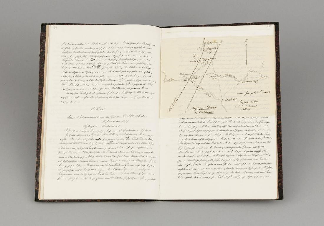 Cape Colony, manuscript, 90-page manuscript from 1900 - 2