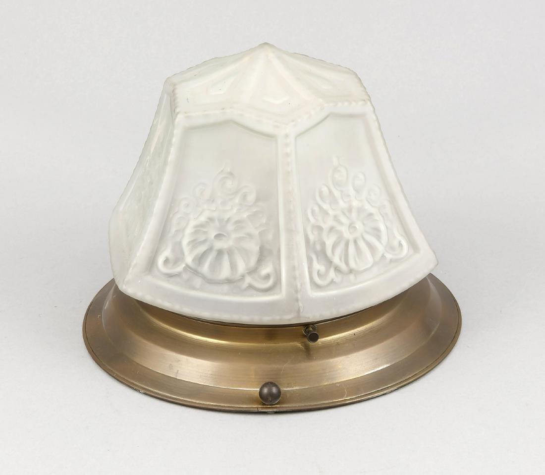 Deckenlampe / Plafoniere, 1. H. 20. Jh., elektr.,