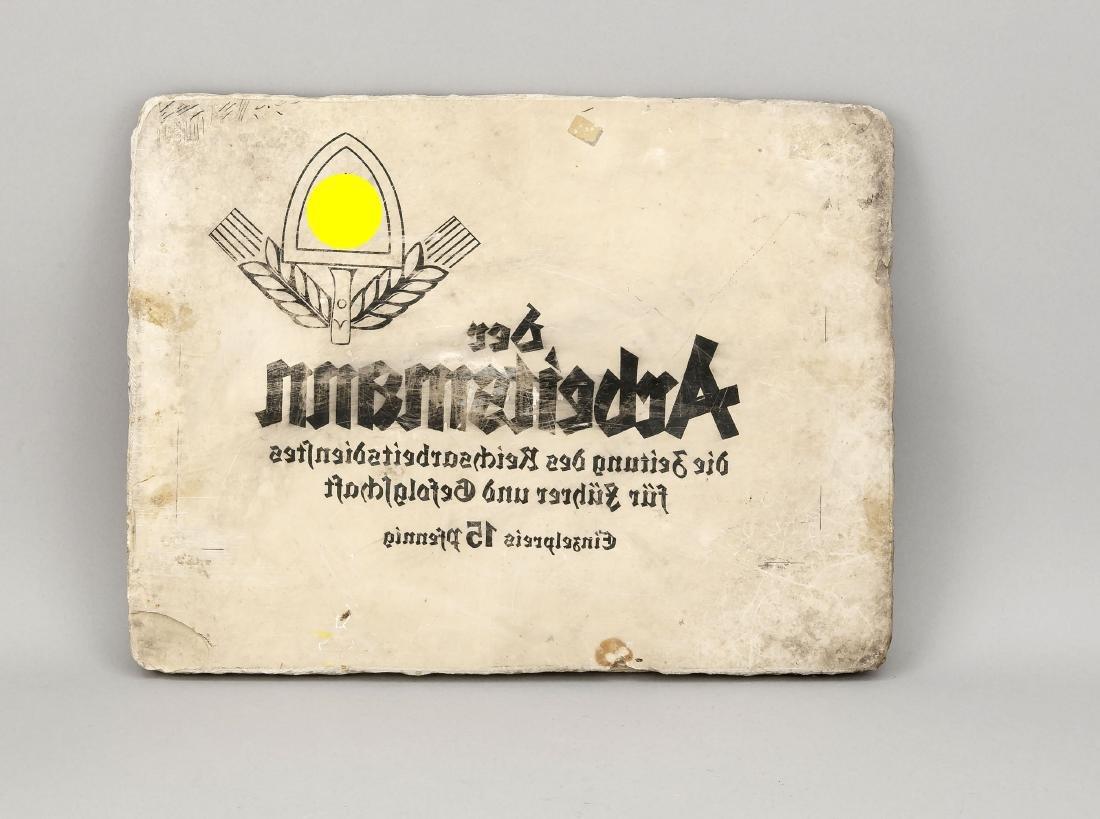 Druckplatte aus Stein (Lithografieplatte), Deutschland,