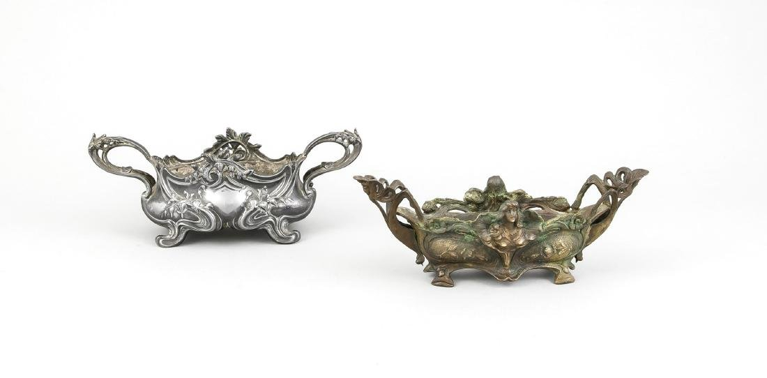 Two small Art Nouveau jardiniers, France end of the