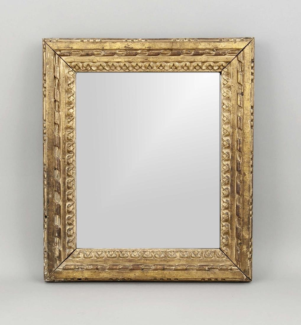 Small wall mirror early 19th century, profiled frame