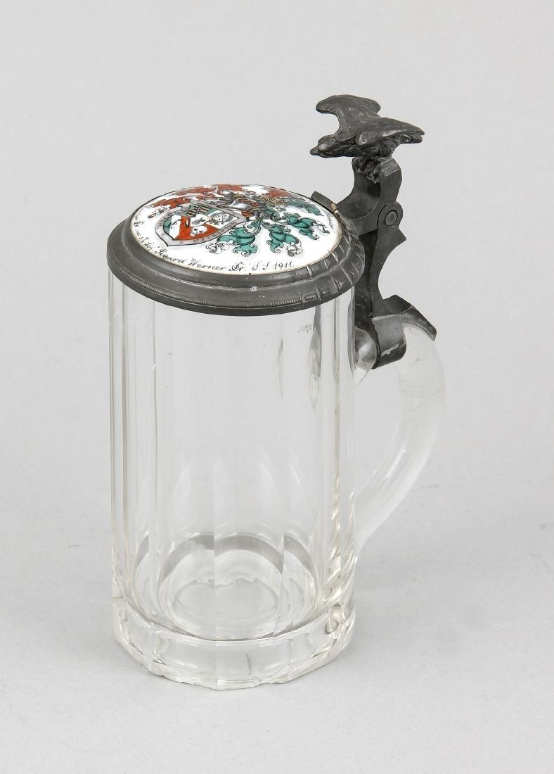 Glashumpen mit Wappen/Studentenkrug 0,4 L, Deutschland