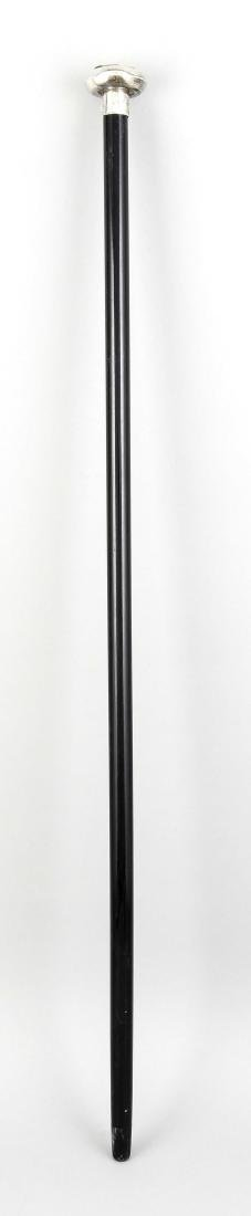 Flanierstock, Anfang 20. Jh., schwarz lackierter - 2