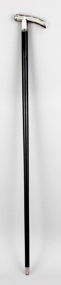 Spazierstock, China um 1900, schwarz lackierter - 3