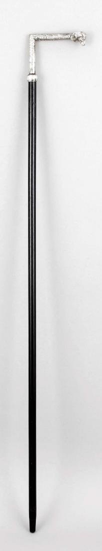 Walking stick, around 1900, black lacquered wooden - 2