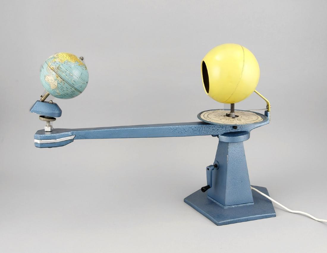 Tellurium, Modell der Bewegung von Sonne und Erde,