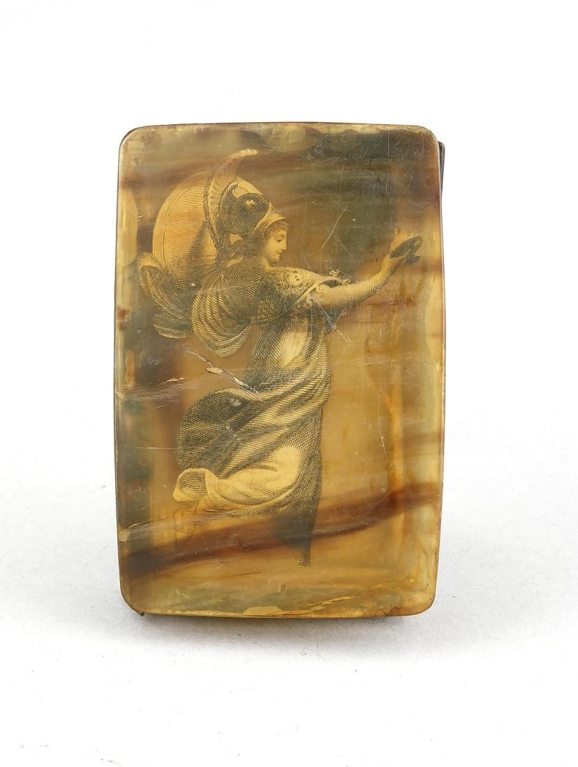 Schnupftabakdose, 1. H. 18. Jh., angeblich trug diese