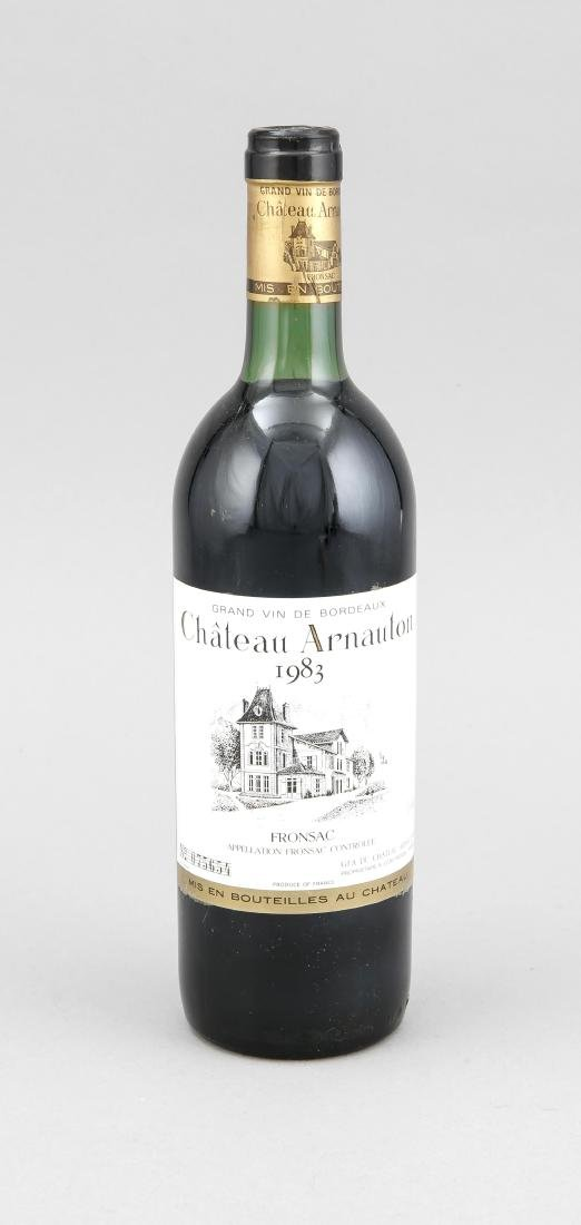 Chateau Arnauton, Fronsac, 1983, top shoulder, 75 cl