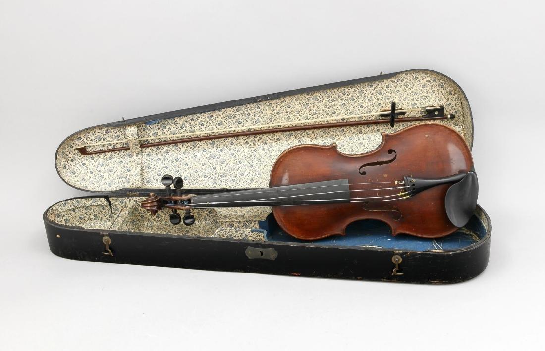 Geige von Ackermann & Lesser, Dresden 1910, in altem