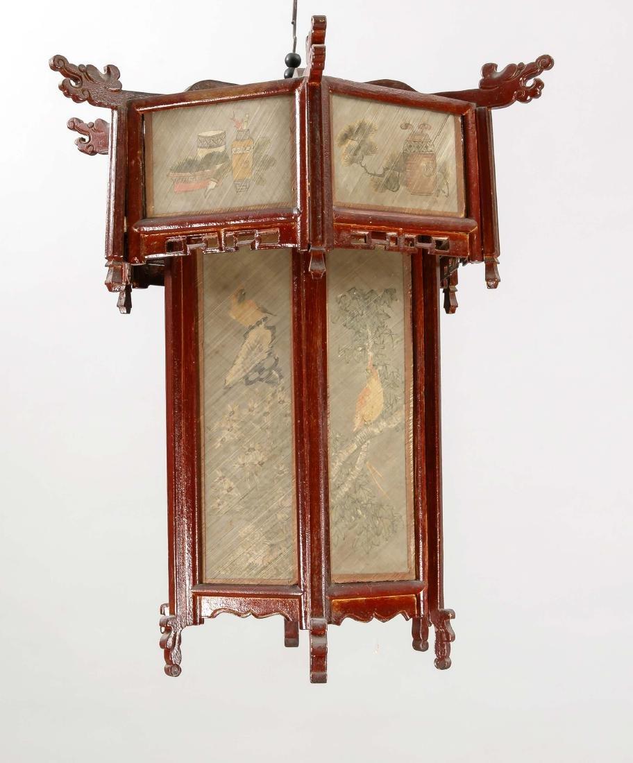 Lampion, China 2. H. 20. Jh., nicht elektr., rot