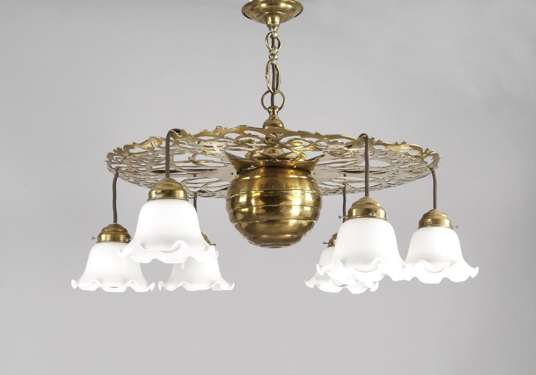 Jugendstil-Deckenlampe um 1910, Entwurf wohl Richard