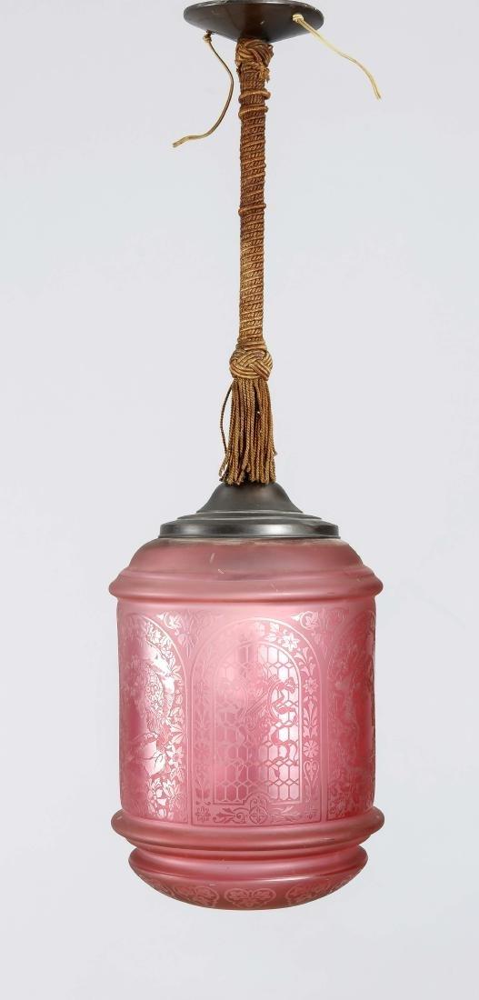 Deckenlampe, 1. H. 20. Jh., elektr., 1-flg.,